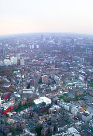 april 15: LONDON, UK - APRIL 15, 2015: City of London panorama at sunset. Editorial