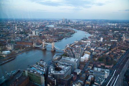 districts: LONDON, UK - APRIL 15, 2015: City of London business and financial aria view Editorial