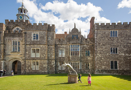 15th century: SUSSEX, UK - APRIL 11, 2015: Sevenoaks Old english mansion 15th century. Classic english country side house