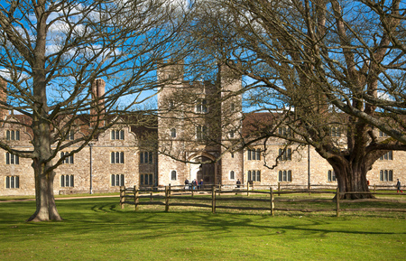 english house: SUSSEX, UK - APRIL 11, 2015: Sevenoaks Old english mansion 15th century. Classic english country side house