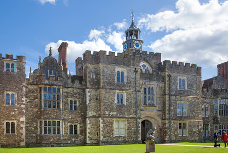 old english: SUSSEX, UK - APRIL 11, 2015: Sevenoaks Old english mansion 15th century. Classic english country side house