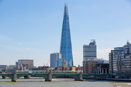 shard of glass: LONDON, UK - SEPTEMBER 10, 2015: Shard
