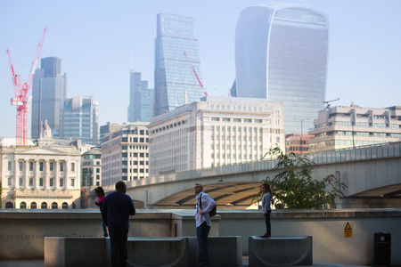 corporative: LONDON UK - SEPTEMBER 10, 2015 - City of London view, modern buildings of offices, banks and corporative companies Editorial