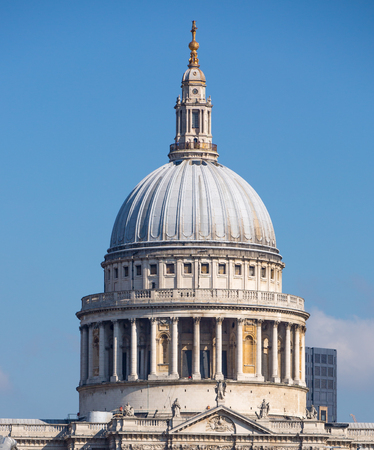 st pauls cathedral: St. Pauls cathedral dome Stock Photo