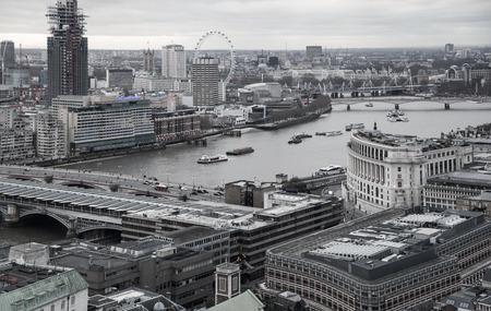 panoramic view: LONDON, UK - JANUARY 27, 2015:  London at sunset