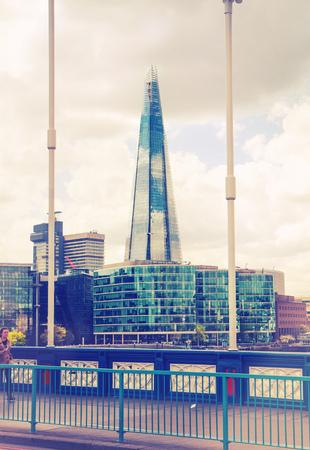 april 15: LONDON, UK - APRIL 15, 2015: City of London business and financial aria, Shard
