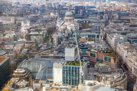 includes: London aerial view includes st. Pauls cathedral