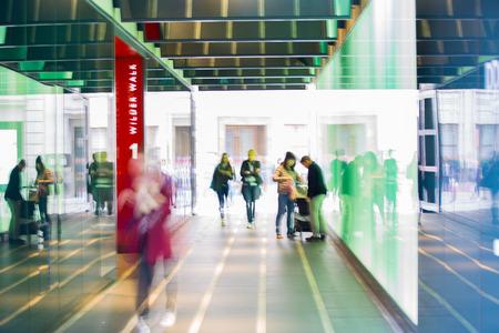 futuristic man: People blur background