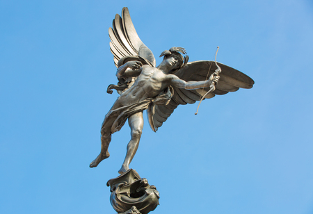 Eros Statue at Piccadilly Circus, London, UK Editorial