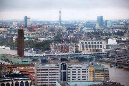 districts: LONDON, UK - SEPTEMBER 17, 2015: London panorama with River Thames, London bridge Editorial