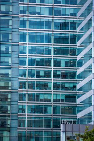 wharf: LONDON, UK - SEPTEMBER 14, 2015: Canary Wharf business centre view Editorial