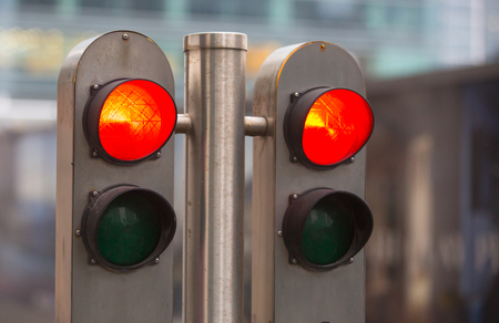 trafficlight: Traffic lights showing the Red