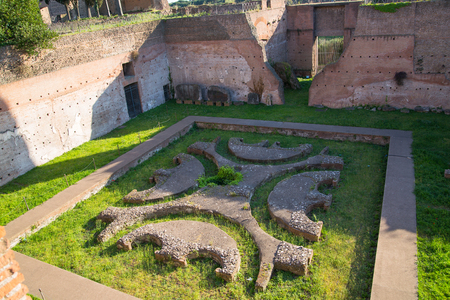 magnum: ROME,  Palantine Hill. The ruins of the Domus Augustana on Palatine Hill.