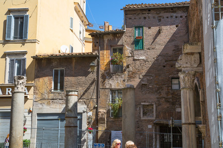 mediterranian houses: ROME, ITALY - APRIL 8, 2016: Old buildings of Rome