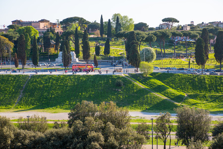 magnum: ROME, ITALY - APRIL 8, 2016: View at Rome from Palantine Hill.
