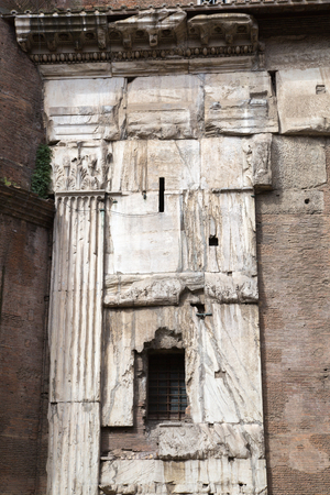 architectural  detail: Pantheon in Rome, architectural detail