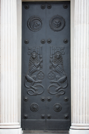 listed buildings: Bank of England door, London Editorial