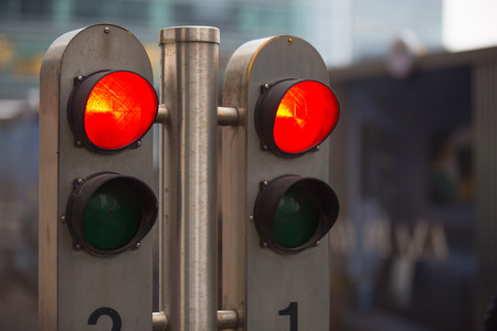 semaphore: Traffic lights showing the Red