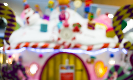depth: Santas grotto decoration, Christmas background Stock Photo