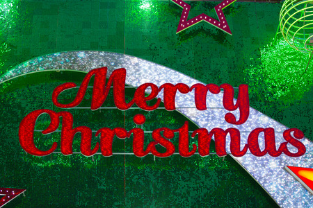 turbulent: Merry Christmas sign, background Stock Photo