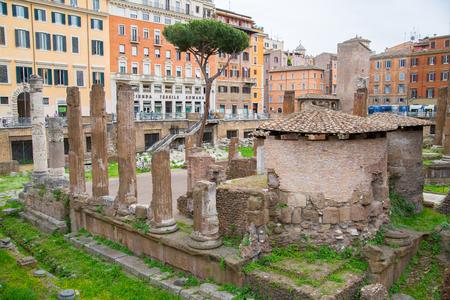 long feet: ROME, ITALY - APRIL 8, 2016: Emperor Trajan Forum 106 - 112 AD AD, measuring 300 metres (980 feet) long and 185 metres (607 feet) wide