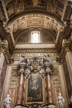 basilica of saint peter: ROME, ITALY - APRIL 8, 2016: Interior of the Papal Basilica of St. Peter in the Vatican