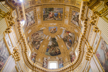 dome: ROME, ITALY - APRIL 8, 2016: Interior of the Papal Basilica of St. Peter in the Vatican