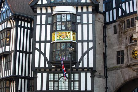 regent: LONDON, UK - OCTOBER 4, 2015: Liberty house, Regent street