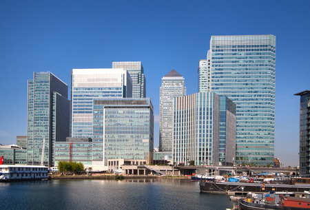 Canary Wharf view, London