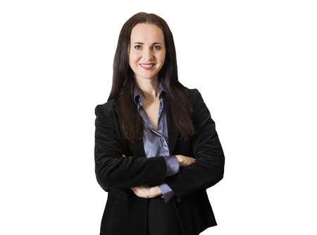 office environment: Attractive woman portrait in office environment