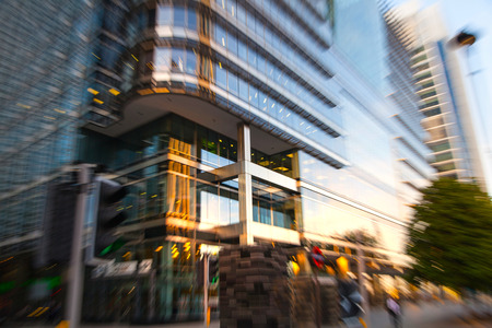 uk money: LONDON, UK - OCTOBER 17, 2014: Canary Wharf business and banking aria and first night lights
