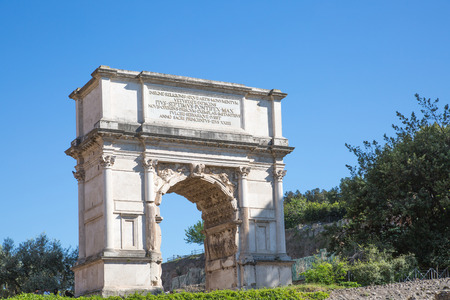 magnum: ROME, ITALY - APRIL 8, 2016: Romans forum with ruins of important ancient government buildings started 7th century BC
