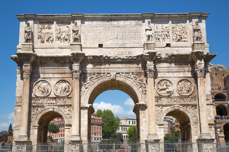 constantine: Arch of Constantine, ancient construction of emperor victory over Maxentius in 312AD, Locates next to Coliseum