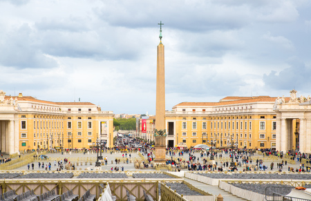beatification: ROME, ITALY - APRIL 8, 2016: vatican main square in front of Saint Peters basilica