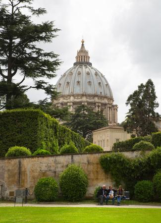 Basilica of Saint Peter. Vatican. View from the garden
