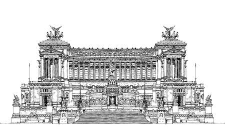 Autel de la Patrie (Altare della Patria) 1925. Piazza Venezia. Vittorio Emanuele II à Rome, Italie. collection Sketch