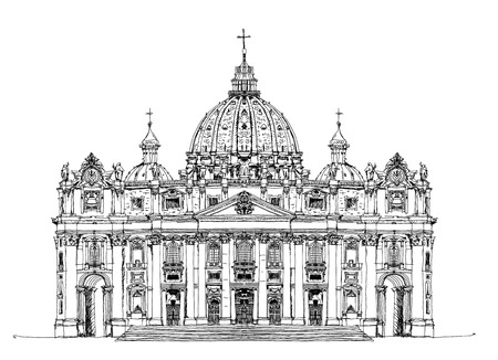 catholic: Saint Peters aa Vatican, Rome. Sketch collection