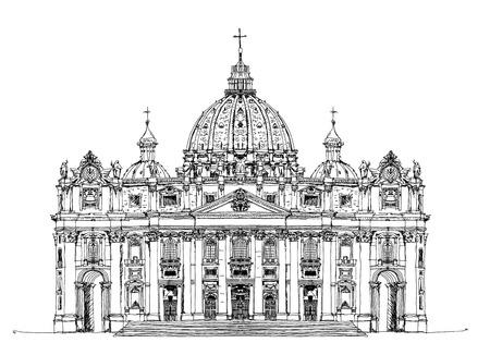 beatification: Saint Peters aa Vatican, Rome. Sketch collection