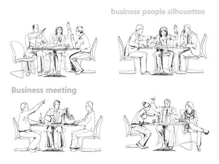 sketch: Business meeting, Sketch