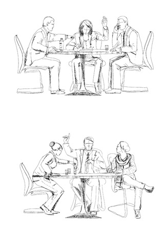 bowing: Business meeting, Sketch