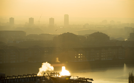 London view at sunset,  UK Stock Photo