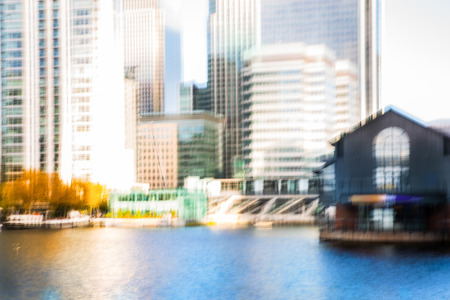 modern background: Multiple exposure effect image. Abstract background with modern office  buildings of London. Business and modern life concept.
