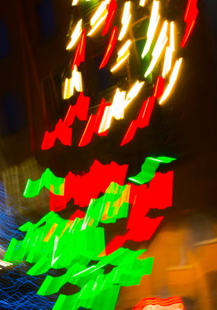 colourful lightings: Abstract background made of Christmas lights with long exposure.