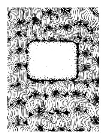 Zentagle Decorative Design Frame With Space For Text Doodle Stock