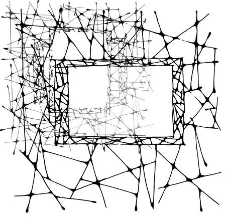 lent: Zentagle decorative design frame with space for text. Doodle Stock Photo