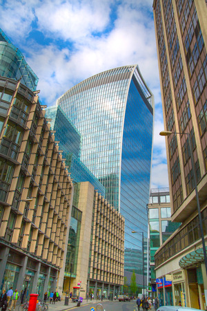 sky reflection: LONDON, UK - 17 may, 2016: Walkie-Talkie office block view with sky reflection. City of London business aria. Editorial