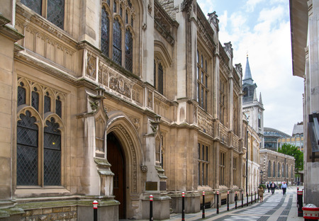 old town guildhall: LONDON, UK - 17 may, 2016: City of London. Guildhall Yard office buildings Editorial