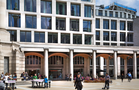 guildhall: LONDON, UK - 17 may, 2016: City of London. Guildhall Yard office buildings Editorial