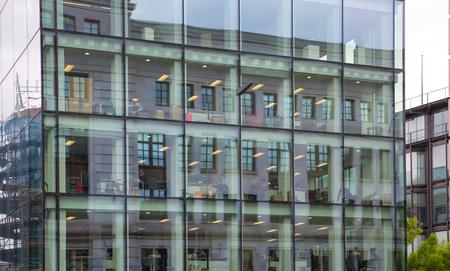 corporate buildings: LONDON, UK - 17 may, 2016: City of London office and corporate buildings against of blue sky.
