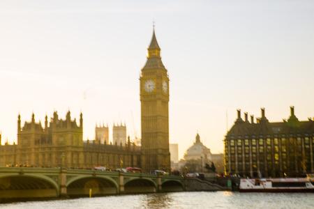 London, UK - November 30, 2016: Big Ben and Houses of Parliament at sunset.